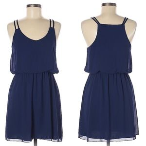 TOBI navy blue summer mini dress M